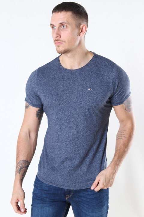Tommy Jeans Slim Jaspe Crewneck T-shirt Twillight Navy