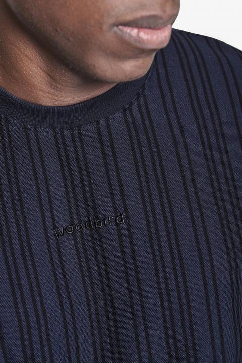 Woodbird Braws Pique Tee Navy-Black