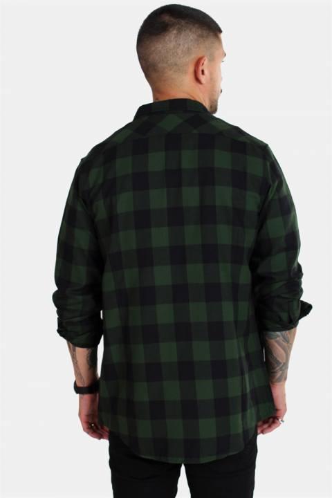 Urban Classics TB297 Checked Flanell Skjorte Black/Forest