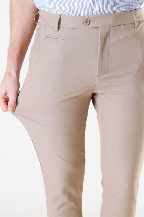 Les Deux Como Light Suit Pants Light Brown Insence