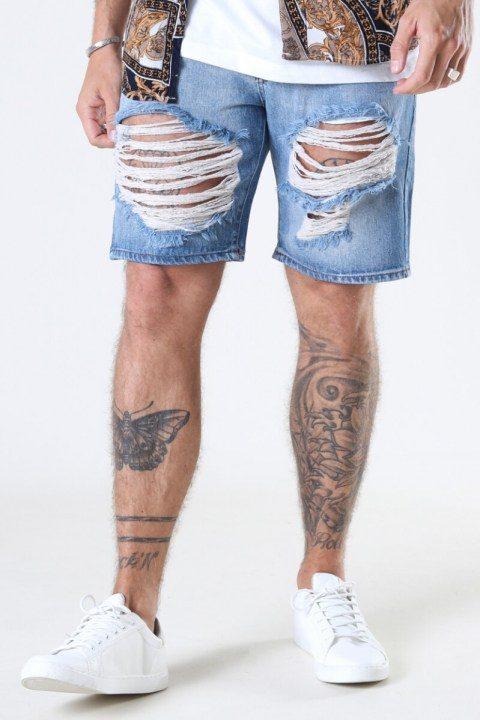 Just Junkies Storm Shorts Light Blue