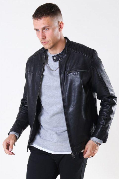 Only & Sons Fonda Leather Jacket Black