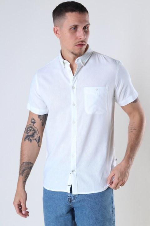 Kronstadt Johan Linen S/S shirt White