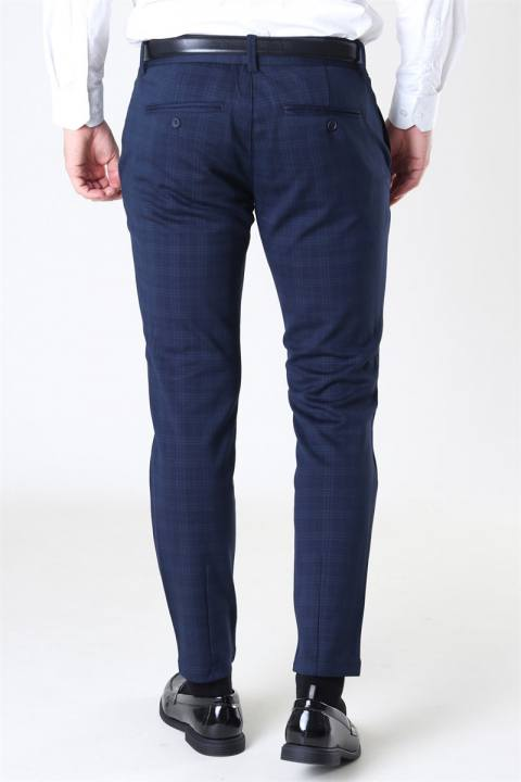 Only & Sons Mark Tap Pants Check GW 8098 Night Sky