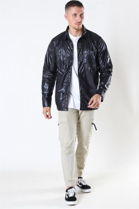 Denim Project Parachute Overshirt Black