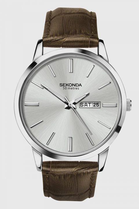 Køb Sekonda 1661 Classic Brown Leather Ur