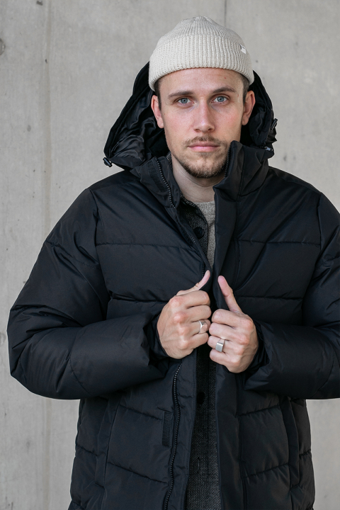 ONLY & SONS ONSCARL LONG QUILTED COAT OTW Black