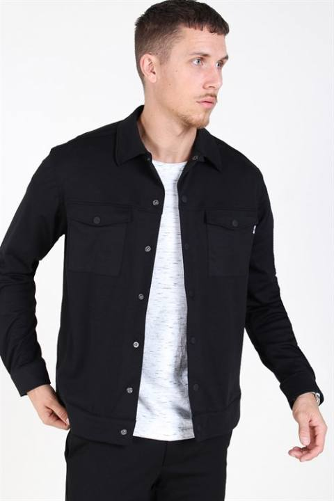 Only & Sons Comfort Stretch Overshirt Black