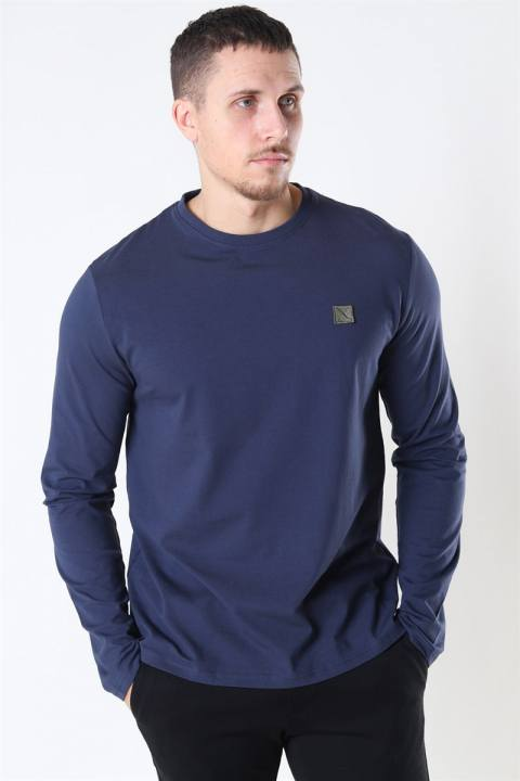 Køb Clean Cut Basic Organic T-shirt LS Navy
