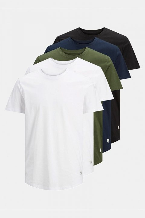 Jack & Jones Enoa 5-Pack T-shirt White/2White