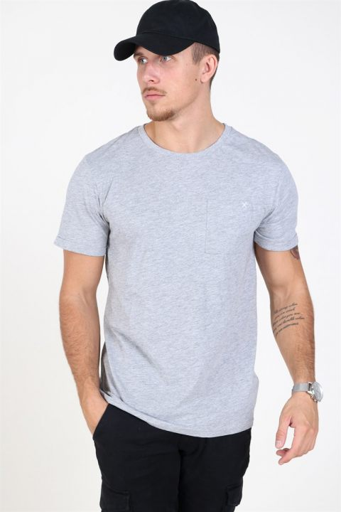 Clean Cut Kolding T-shirt Light Grey Melange