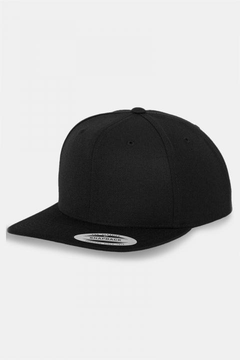 Image of Flexfit Classic Snapback Cap Black/black (1549537404-ONE_SIZE)
