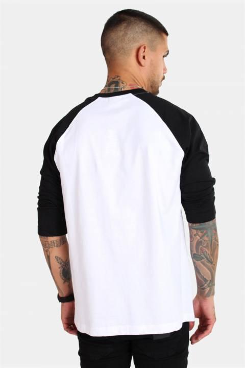 Raglan 3/4 sleeve White/Black