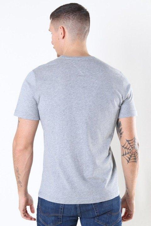 Tommy Jeans Original Jersey T-shirt Lt Grey HTR