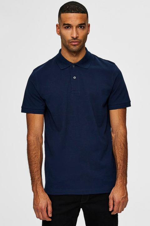 Køb Selected SLHNEO SS POLO S NOOS Navy Blazer
