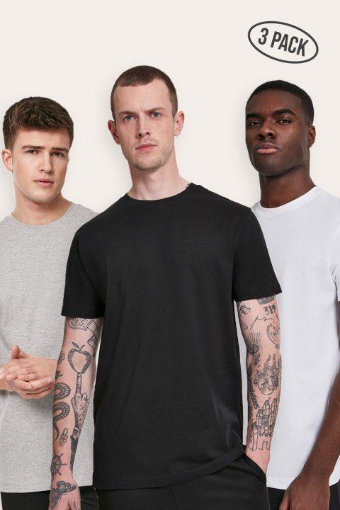 Basic Tee 3-Pack Black/White/Grey