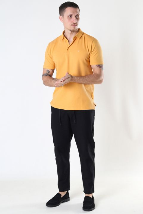 Clean Cut Copenhagen Silkeborg Stretch Polo Pale Orange