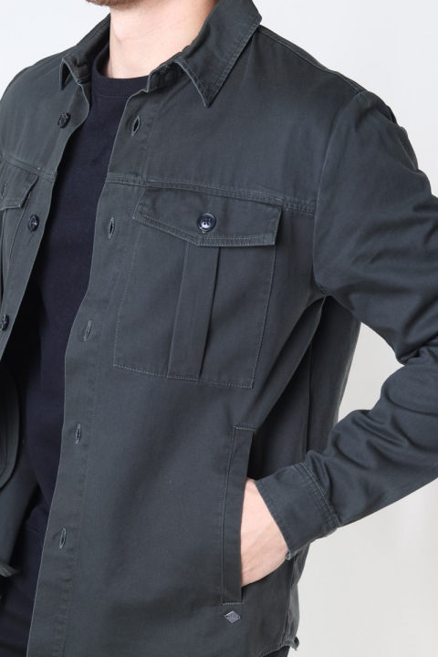 Solid Loke Overshirt  Forest Night