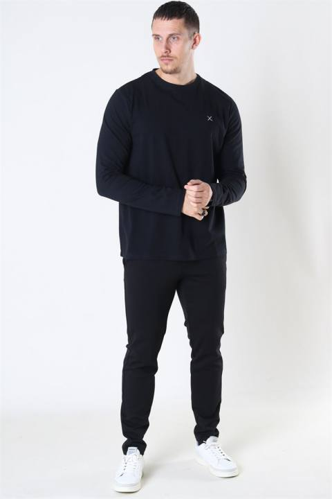 Clean Cut Basic Organic T-shirt LS Black