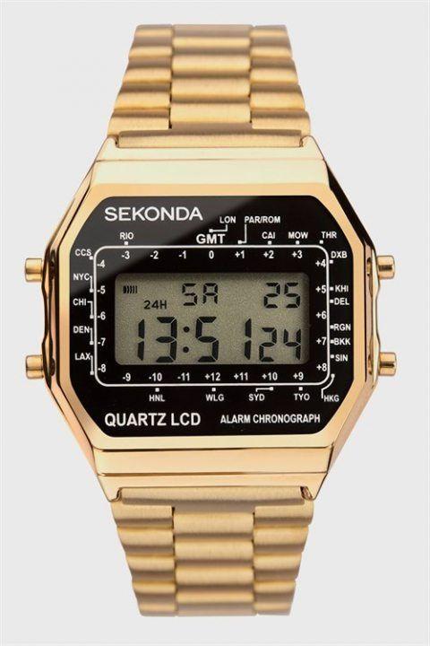 Sekonda 1817 Classic Gold Plated Bracelet Digital Ur