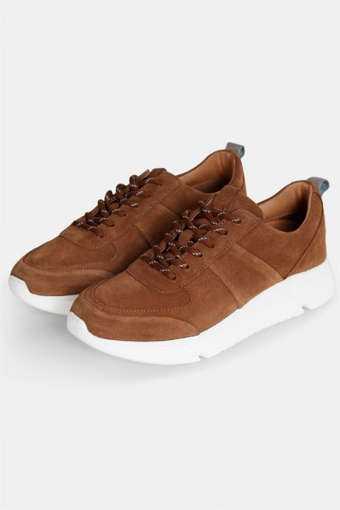 Shoe The Bear Salonga Ruskind Sneakers Tan
