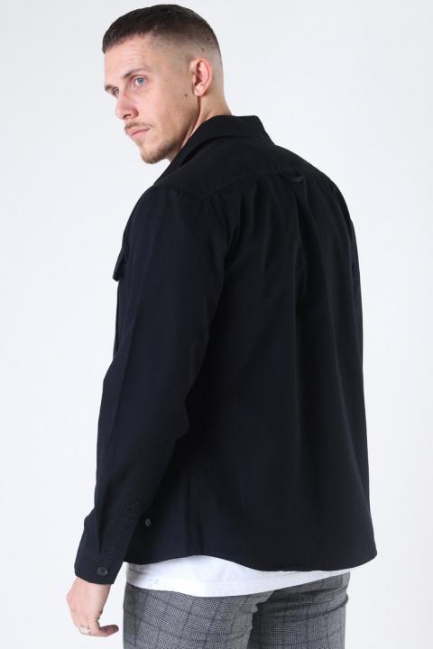 Solid Loke Overshirt Black