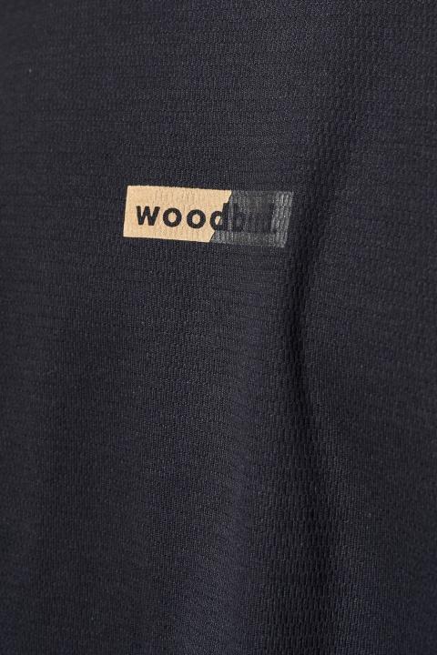 Woodbird Flans Sport Tee Navy-ecru