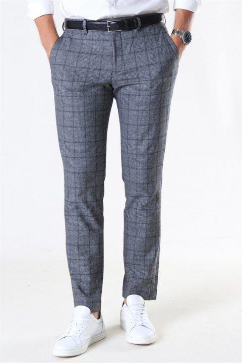 Køb Selected Slim-Carlo Cotflex Pants Dark Grey/Black