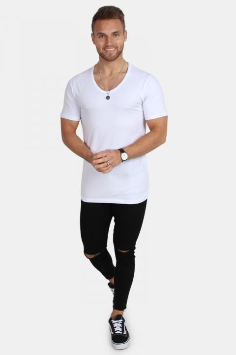 Jack & Jones Basic V-Neck T-shirt S/S Opt White
