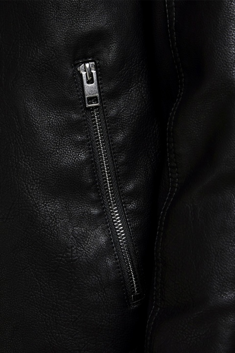 Jack & Jones Jornolan Biker Jacket Black