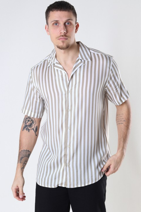 ONLY & SONS ONSWAYNE LIFE SS VISCOSE SHIRT NOOS Chinchilla