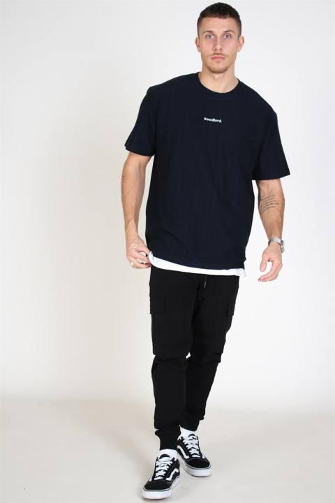Woodbird Craz Soccer T-shirt Navy