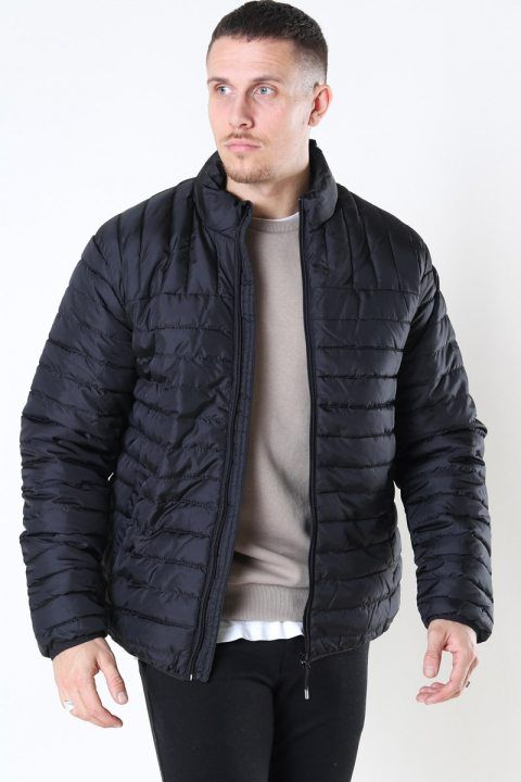 Only & Sons Paul Quilted Highneck Jakke Black
