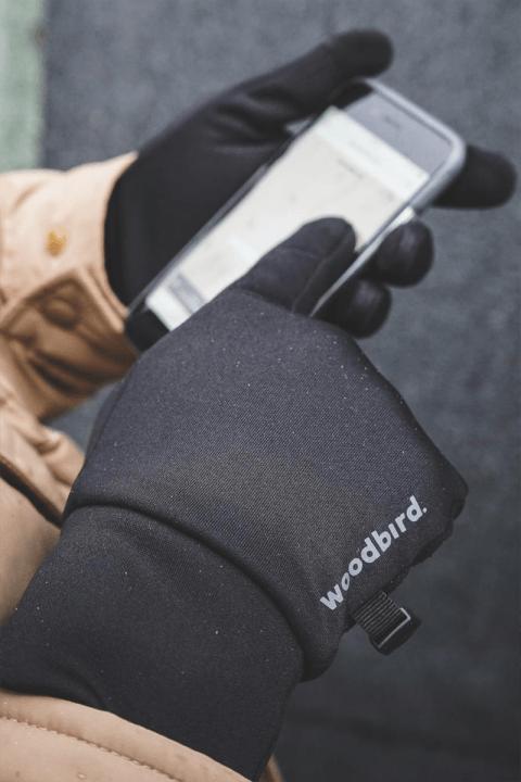 Woodbird Sly Logo Handsker Black