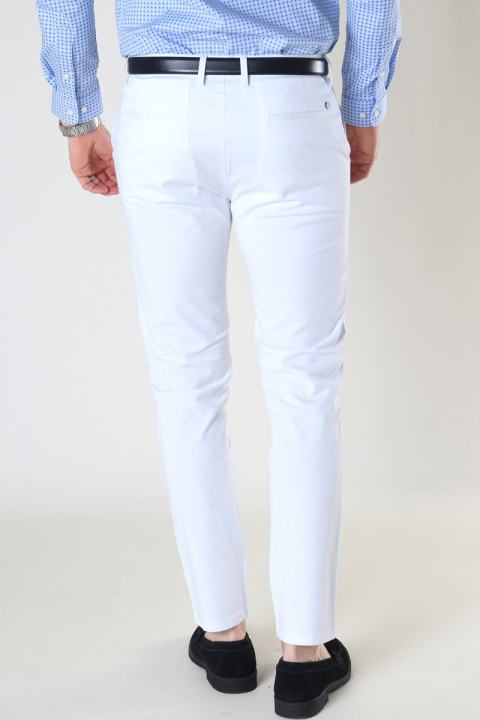 Clean Cut Copenhagen Milano Drake Stretch Pants White