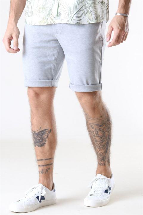 Køb Denim Project Ponte Shorts Light Grey Melange