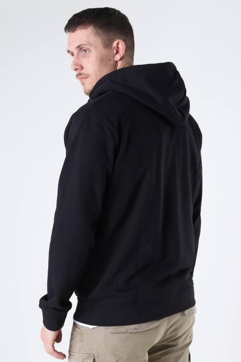 Clean Cut Copenhagen Basic Organic Zip Hood Black