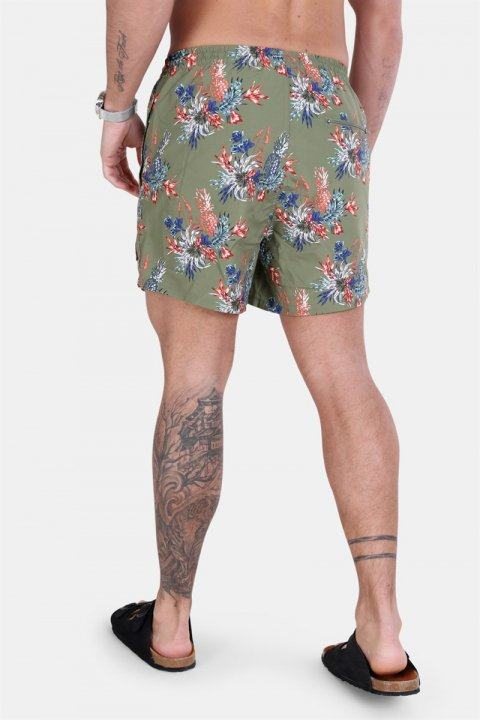Only & Sons Tan Badeshorts AOP NT 2471 Olive Branch