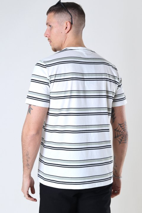 Fred Perry Striped T-shirt Snow White
