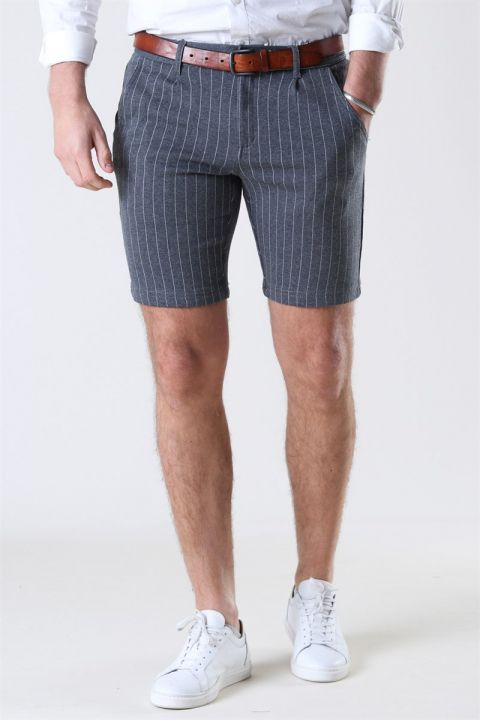 Køb Kronstadt Giles Stripe Shorts Grey