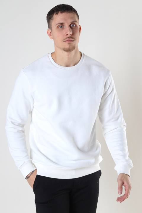 Køb Only & Sons Onsceres Life Crew Neck White