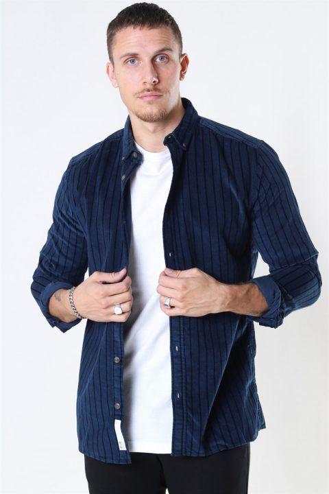 Køb Only & Sons Edward Striped Corduroy Skjorte Dress Blues