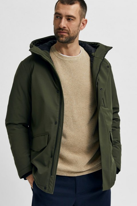 Selected SLHPIET JACKET B NOOS Forest Night