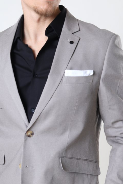 Clean Cut Copenhagen Cotton Linen Blazer Grey