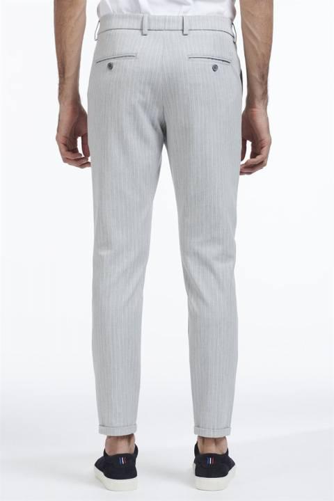 Les Deux Como Pinstripe Suit Pants Grey melange/White