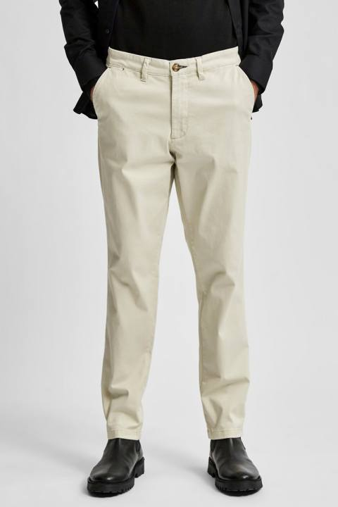 Selected SLHSLIM-MILES FLEX CHINO PANTS W NOOS Moonstruck