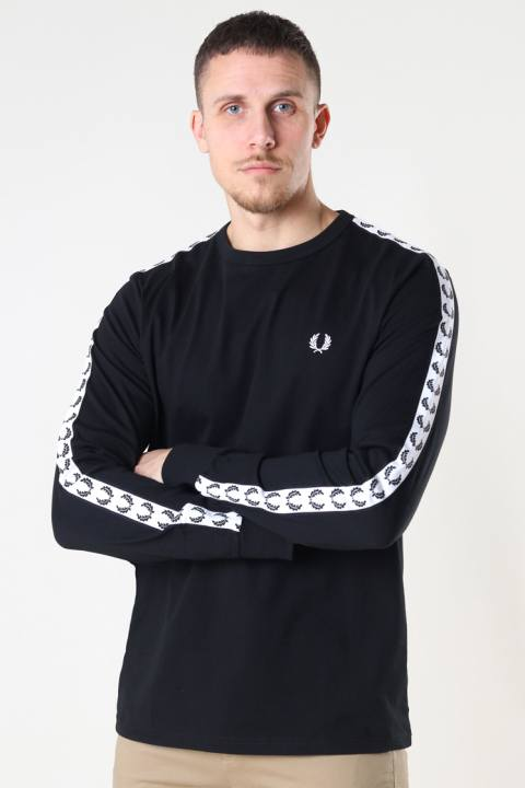 Fred Perry TAPED L/S T-SHIRT 102 Black