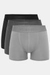 Resteröds Bambu 3-Pack Gunnar Boxershorts Black/Grey/Light Grey