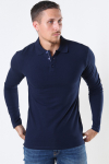 Muscle Fit Polo LS Blue Navy