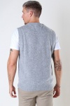 Woodbird Karl Wool Vest Grey
